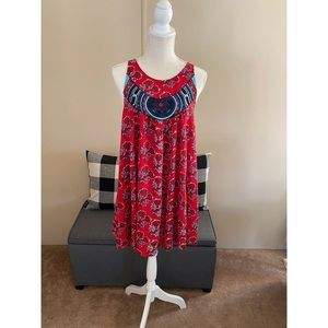Plenty by Tracy Reese Red and Blue Mini Dress